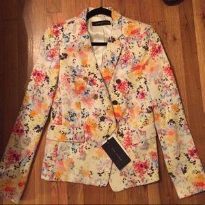 Zara Jackets & Coats - Zara floral blazer szM never worn NWT